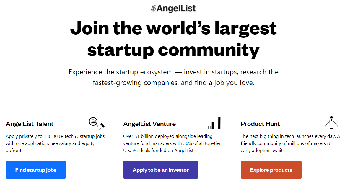 Angel List for Startups