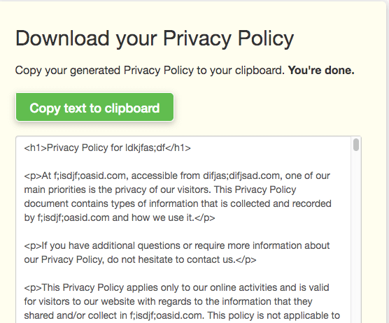 Download Privacy Policy