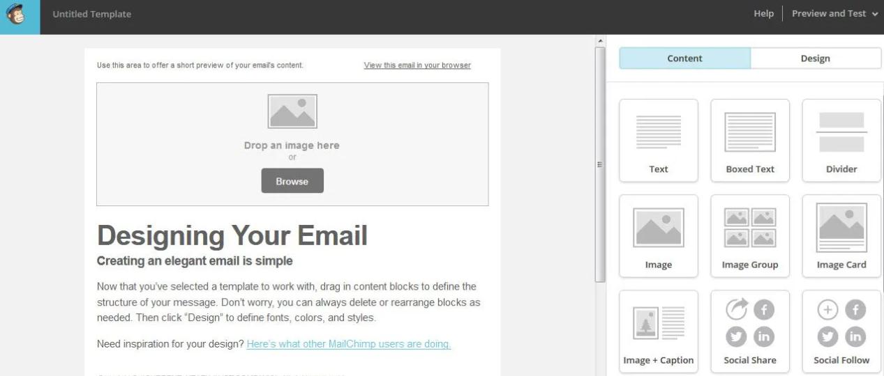 mailchimp editor ux