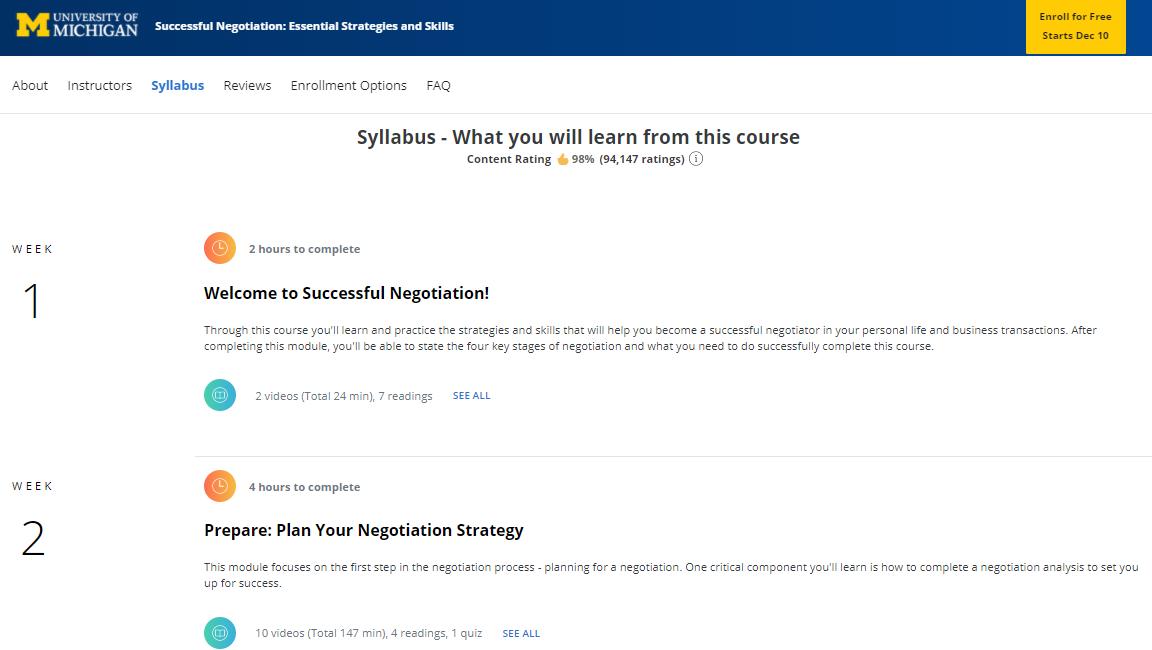 Coursera Courses Program
