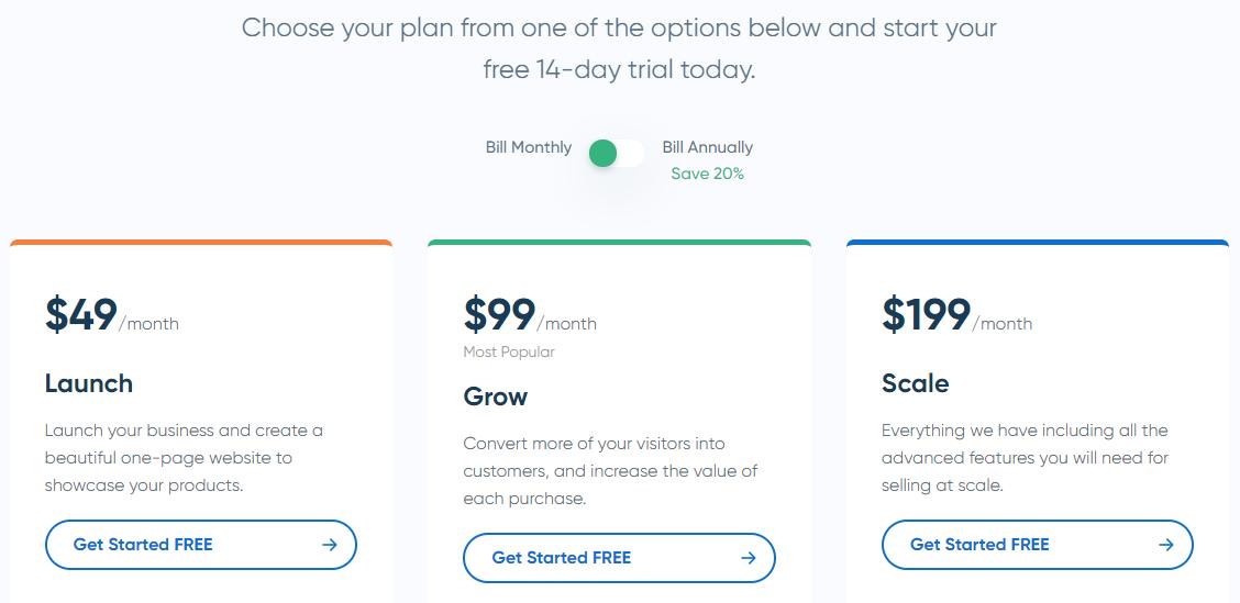 Samcart Pricing Plans